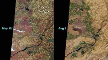 Hanford Nuclear Reservation and Vicinity from Space